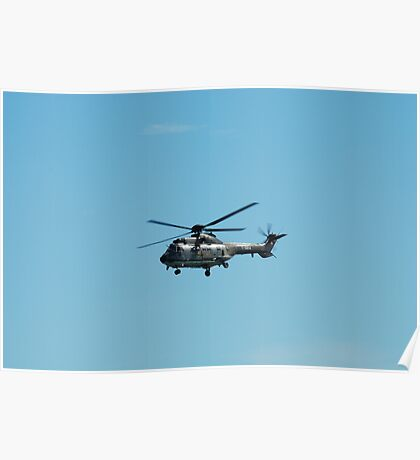 Swiss Air Force Super Puma Helicopter  Poster