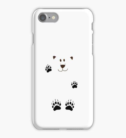 SAY HI TO THE BEAR IN THE SNOWSTORM iPhone Case/Skin