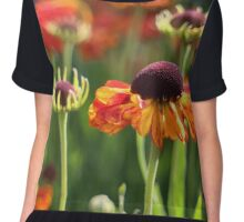 Autumn Flowers Chiffon Top