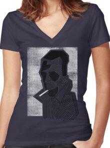 Strange Women's Fitted V-Neck T-Shirt