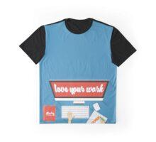 study  x work Graphic T-Shirt