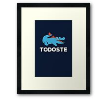 Todoste dark Framed Print