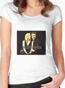 Gillian and David aka Schmoopies Women's Fitted Scoop T-Shirt