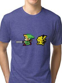 Link and Pikachu Tri-blend T-Shirt