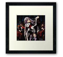 dancing with the undertaker Framed Print