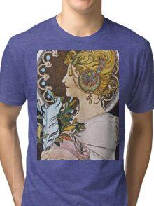 Alphonse Mucha - La Plumethe Pen Tri-blend T-Shirt