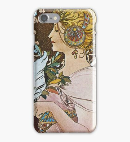 Alphonse Mucha - La Plumethe Pen iPhone Case/Skin