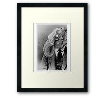 Elephant Man. Framed Print
