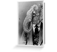 Elephant Man. Greeting Card