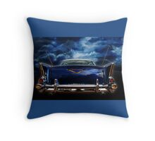 57 blue Throw Pillow