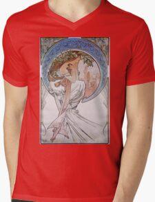 Alphonse Mucha - La Poesiepoetry Mens V-Neck T-Shirt