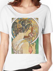 Alphonse Mucha - La Primeverepolyanthus Women's Relaxed Fit T-Shirt