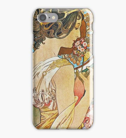 Alphonse Mucha - La Primeverepolyanthus iPhone Case/Skin