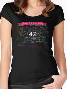 The answer to the ultimate question 42 Women's Fitted Scoop T-Shirt