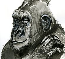 Gorilla Head1 by WoolleyWorld