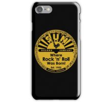 Sun Records : Where Rock N' Roll Was Born iPhone Case/Skin