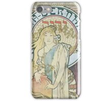 Alphonse Mucha - La Samaritaine  iPhone Case/Skin