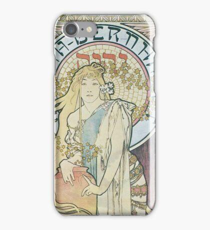 Alphonse Mucha - La Samaritaine  iPhone Case/Skin