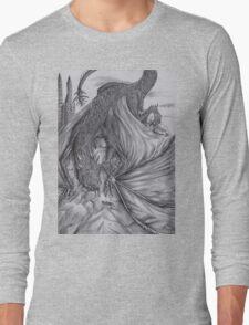 Hungarian horntail - BW Long Sleeve T-Shirt