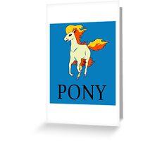 Ponyta Ralph Lauren Greeting Card