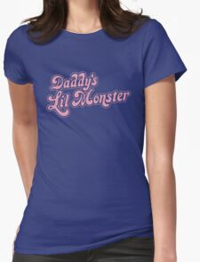 DADDYS LIL MONSTER Womens Fitted T-Shirt