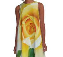 Yellow Roses A-Line Dress