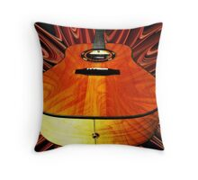 Acoustic Inferno Throw Pillow