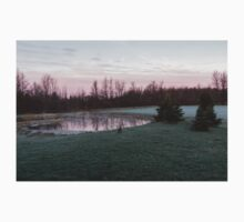 Frosty Morning - Quiet Pinks and Greens at the Pond One Piece - Long Sleeve
