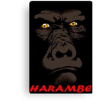 JUSTICE FOR HARAMBE Canvas Print