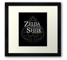 Zelda on the Streets Framed Print