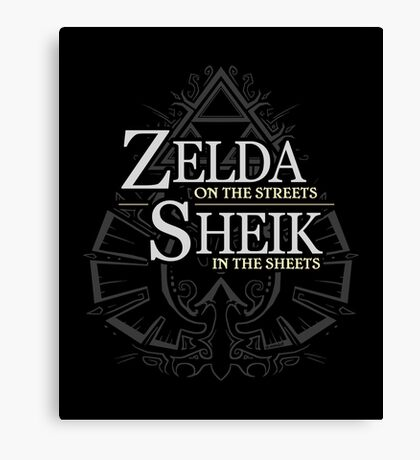Zelda on the Streets Canvas Print