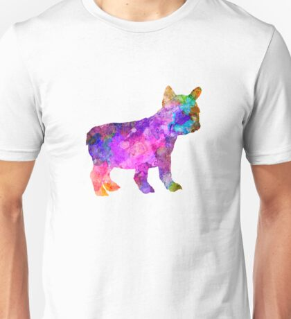 French Bulldog puppy 01 in watercolor Unisex T-Shirt