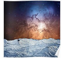 Cosmic Winter Landscape Poster