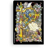 """The Illustrated Alphabet Capital  P  """"Getting personal"""" from THE ILLUSTRATED MAN Canvas Print"""
