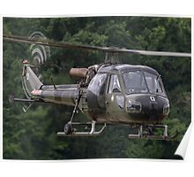 British Army Westland Scout Helicopter Poster