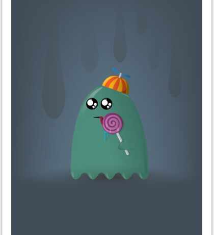 Pac-Man Ghost Sticker