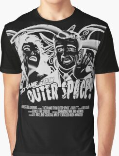 They Came From Outer Space! - Black Edition Graphic T-Shirt