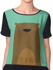 Stumped Bear Chiffon Top