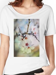 Almond tree flowers in watercolor Women's Relaxed Fit T-Shirt