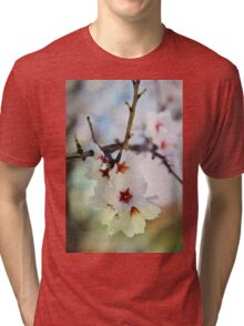 Almond tree flowers in watercolor Tri-blend T-Shirt