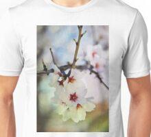 Almond tree flowers in watercolor Unisex T-Shirt