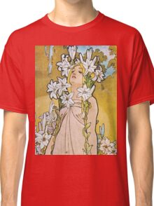 Alphonse Mucha - Le Lyslily Classic T-Shirt