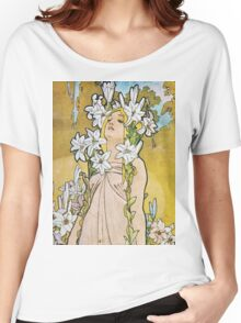 Alphonse Mucha - Le Lyslily Women's Relaxed Fit T-Shirt