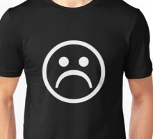 Sad Boy Face [White] Unisex T-Shirt