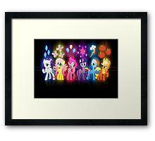 My Little Pony Neon Poster Framed Print