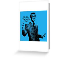 The Day The Music Died, Buddy Holly Greeting Card