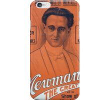 Performing Arts Posters Americas master mentalist Newmann the Great and his show of wonders 3014 iPhone Case/Skin