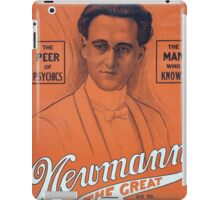 Performing Arts Posters Americas master mentalist Newmann the Great and his show of wonders 3014 iPad Case/Skin