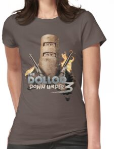 The Dollop Down Under 3 T Womens Fitted T-Shirt