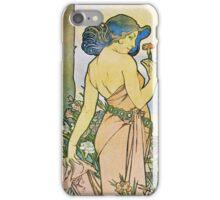 Alphonse Mucha - Oeilletcarnation iPhone Case/Skin